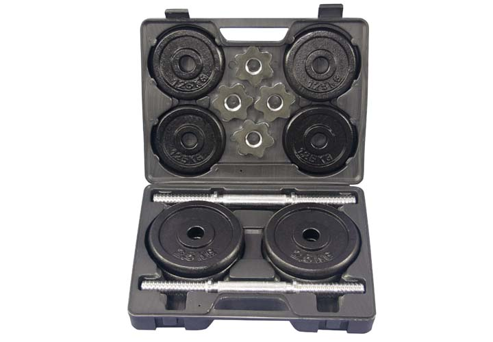 VOSAREA Manubri Peso Fitness 20Kg Bilanciere Cromato ergonomico Coppia di manubri Leggeri per Uomo Donna Home Office Palestra